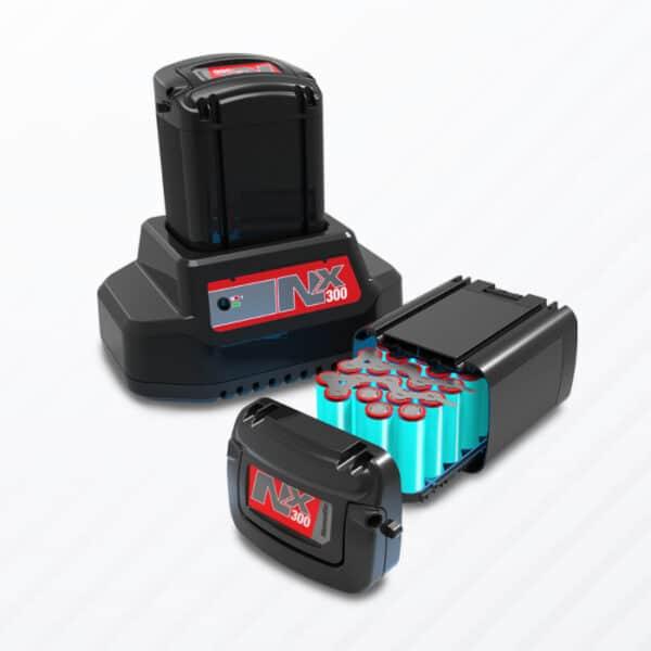 De 224 NX wordt aangedreven door de krachtige NX300 accu