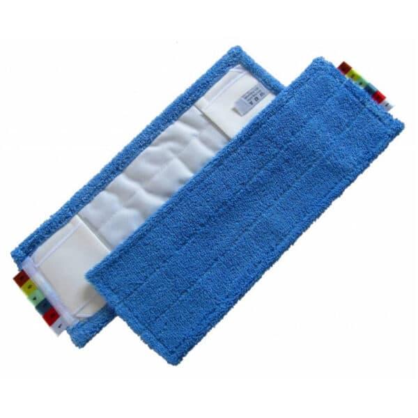 Mop Blauw met Pockets, Flappen en Kleurcodering